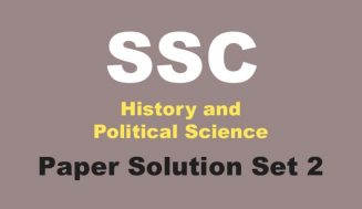 10th History and Political Science Solution Set 2 | Board Paper 2019