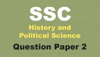History and Political Science Board Question Paper Set 2 | ebalbharati