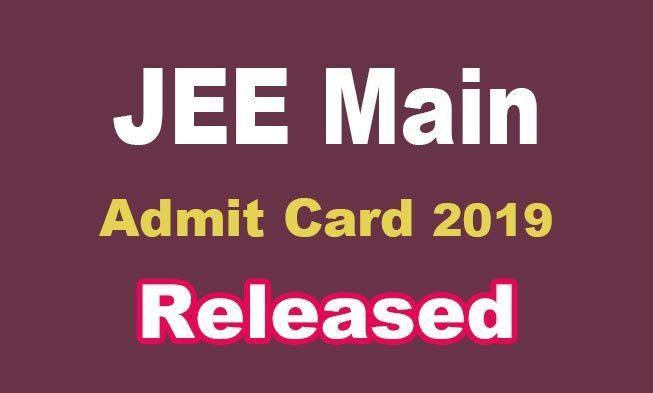 Jee Main Admit Card Pdf